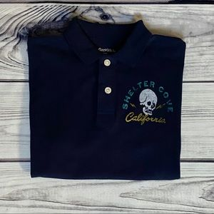 Gap Graphic Skull Polo Shirt
